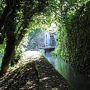 The mill stream at the watermill at Posara, Italy