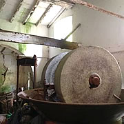 The olive press at the watermill