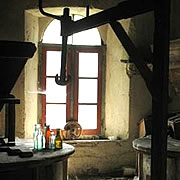 The old mill at the watermill in Posara, Italy