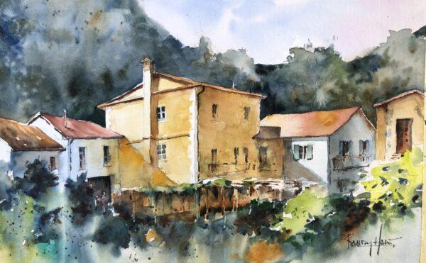 Painting by Randy Hale, a tutor at The Watermill at Posara painting holidays/vacations, Tuscany, Italy