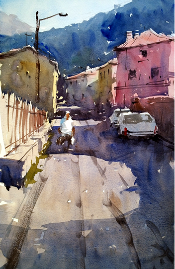 Painting Tutor Tim Wilmot At The Watermill In Tuscany Italy